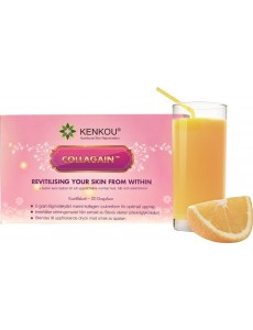 Collagain - 5 gram kollagen protein pulver kosttillskott för huden (apelsinsmak 30 dospåsar)