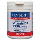 Vitamin D (kolekalciferol D3) 1000iu (25µg) - 120 tabletter